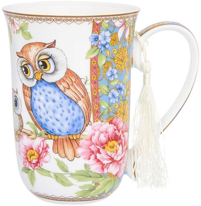 Кружка Elan Gallery Совушки, 450 мл420141Яркая кружка Совушки станет прекрасным подарком для ваших близких, а также украсит Ваше чаепитие! Изделие упаковано в подарочную коробку.