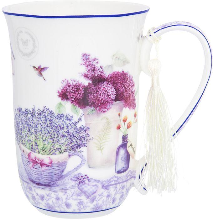 Кружка Elan Gallery Лаванда, 450 мл420142Кружка Лаванда благодаря нежному цветочному дизайну рисунка придется по вкусу любителям прованса . Изделие упаковано в подарочную коробку.