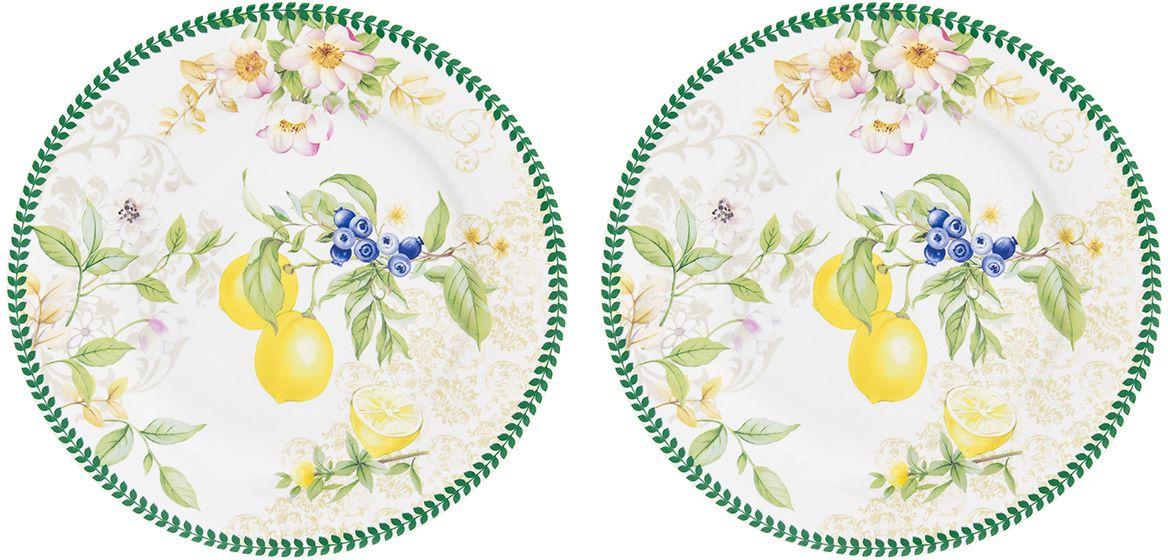 Набор тарелок для десертов Elan Gallery Лимоны, диаметр 19 см, 2 шт420176Набор десертных тарелок диаметром 19 см из серии «Лимоны» - изящныйштрих,который добавит изысканности вашему чаепитию и станет настоящим украшениемвашего стола. Тарелки выполнены из высококачественного костяного фарфоранового поколения, благодаря современным технологиям фарфор New Bone Chinaне уступает традиционному костяному фарфору в прозрачности, белизне ипрочности, но при этом гораздо экологичнее в производстве. Тарелки удобнойформы и практичного размера с ярким рисунком с особенным летним настроением— жизнерадостные лимоны с ярким акцентом и нежными цветами наполнят вашидни солнцем и яркими красками.Тарелки упакованы в прочную подарочнуюупаковку и послужат желанным подарком любой современной хозяйке. В серии«Лимоны» также представлены другие товары для сервировки стола — чайники,чайные пары, кружки, сервировочные тарелки и многое другое. Собирая сериюможно наполнить ваш дом прекрасной качественной посудой, создающейудивительное солнечное настроение.
