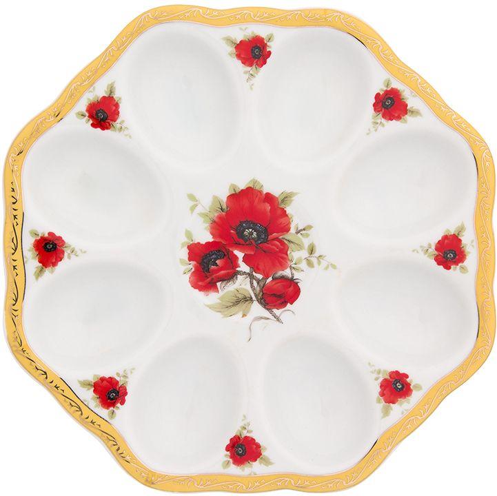 Тарелка для фаршированных яиц Elan Gallery Маки новая, 20 х 20 х 2 см501609Тарелка для фаршированных яиц Маки украсит ваш праздничный стол. На изделии имеются специальные углубления для 8 яиц.Такая тарелка украсит сервировку вашего стола и подчеркнет прекрасный вкус хозяйки. Изделие упаковано в подарочную коробку, поэтому станет желанным подарком для ваших близких!