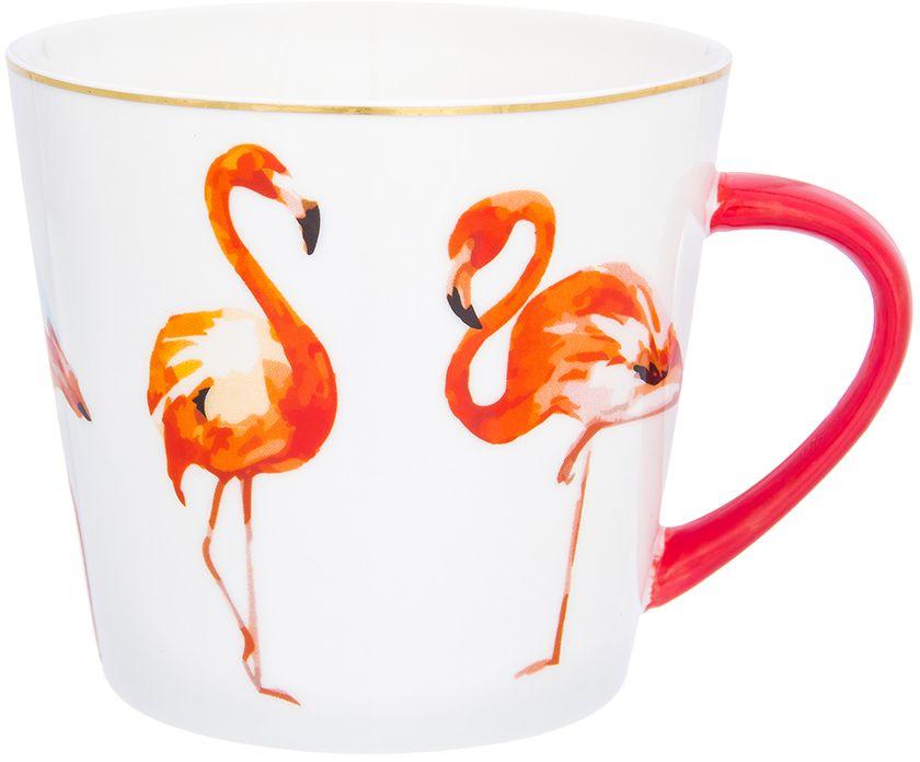 Кружка Elan Gallery Коралловый фламинго, 450 мл504171Оригинальная кружка Коралловый фламинго подойдет для чая, кофе и других напитков. Удобна в использовании благодаря устойчивой форме. Изделие имеет подарочную упаковку.
