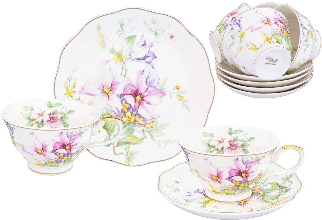 Чайный набор Elan Gallery Нежные цветы, 12 предметов504191Яркая посуда подарит настроение и уют, привнесет разнообразие в приготовление ваших любимых блюд и сервировку семейного стола
