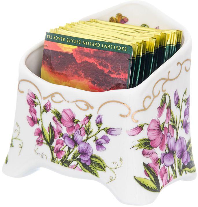Подставка для чайных пакетиков Elan Gallery Душистый горошек, 10,5 х 7 х 10 см подставки для чайных пакетиков elan gallery подставка под чайный пакетик белый шиповник