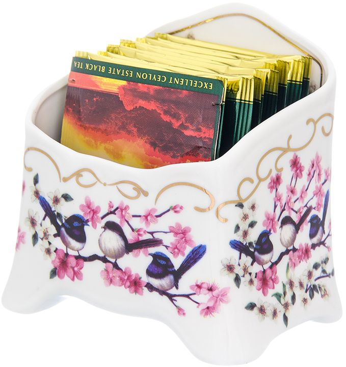 Подставка для чайных пакетиков Elan Gallery Райские птички, 10,5 х 7 х 10 см504196Подставка под чайный пакетик из коллекции Райские птички оригинальный и полезный подарок! С такой подставкой стол будет всегда чистым, без нежелательных разводов от чайных пакетиков. Объем 280 мл.