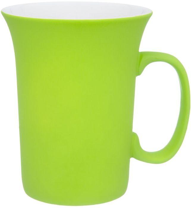 Кружка Elan Gallery Салатовая, с силиконовым покрытием, 300 мл504198Оригинальная кружка подойдет для чая, кофе и других напитков. Удобна в использовании благодаря устойчивой форме. Изделие имеет подарочную упаковку.
