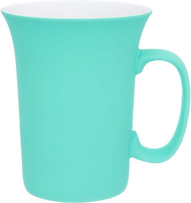 Кружка Elan Gallery Бирюзовая, с силиконовым покрытием, 300 мл504199Оригинальная кружка подойдет для чая, кофе и других напитков. Удобна в использовании благодаря устойчивой форме. Изделие имеет подарочную упаковку.