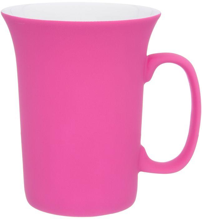 Кружка Elan Gallery Ярко-розовая, с силиконовым покрытием, 300 млРП-9265-2372Оригинальная кружка подойдет для чая, кофе и других напитков. Удобна в использовании благодаря устойчивой форме. Изделие имеет подарочную упаковку.