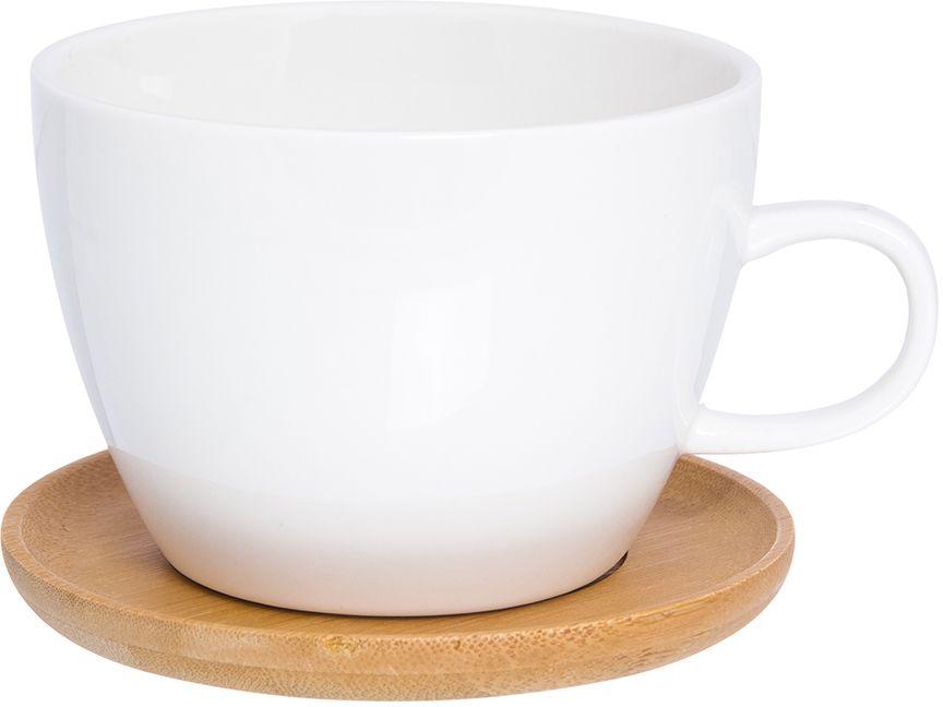 Кружка для кофе Elan Gallery Айсберг, с подставкой, 490 мл кружка с подставкой ecowoo кружка с подставкой