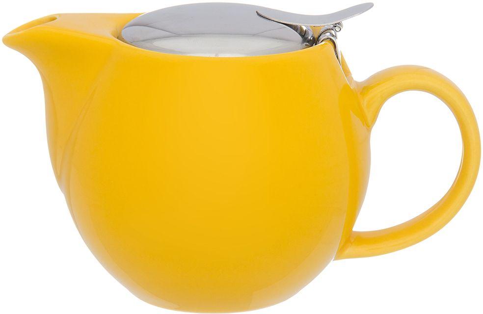 Чайник Elan Gallery Сочный лимон, с ситом, 500 мл630025Изящный вместительный чайник объемом 550 мл удобной ручкой и широким носиком.В основании носика сделаны фильтрующие отверстия от попадания чаинок в чашку. Изделие имеет подарочную упаковку.