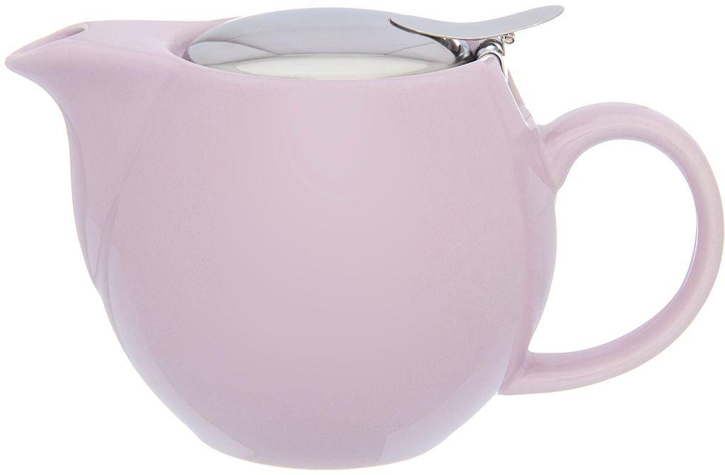 Чайник Elan Gallery Сиреневый, с ситом, 500 мл630026Изящный вместительный чайник объемом 550 мл удобной ручкой и широким носиком.В основании носика сделаны фильтрующие отверстия от попадания чаинок в чашку. Изделие имеет подарочную упаковку.