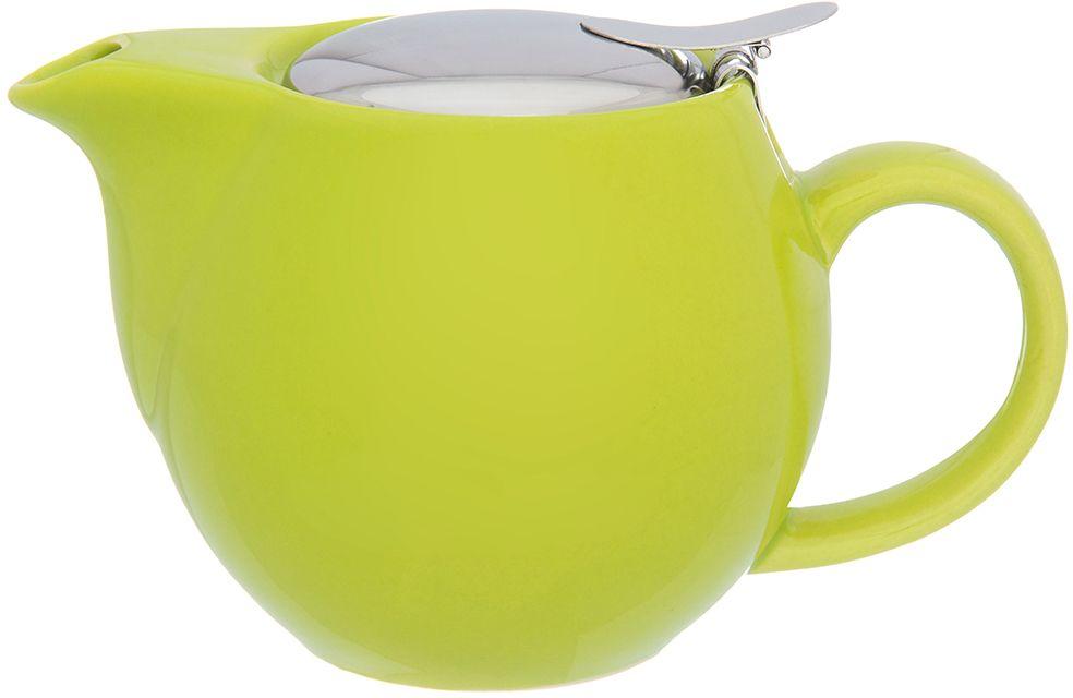 Чайник заварочный Elan Gallery, с ситом, цвет: лаймовый, 500 мл630027Изящный вместительный чайник объемом 500 мл с удобной ручкой и широким носиком. Изделие имеет подарочную упаковку.