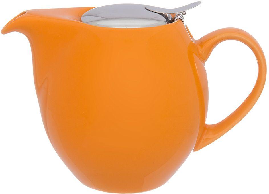 Чайник заварочный Elan Gallery, с ситом, цвет: оранжевый, 900 мл630028Изящный вместительный чайник объемом 900 мл с удобной ручкой и широким носиком. Изделие имеет подарочную упаковку.