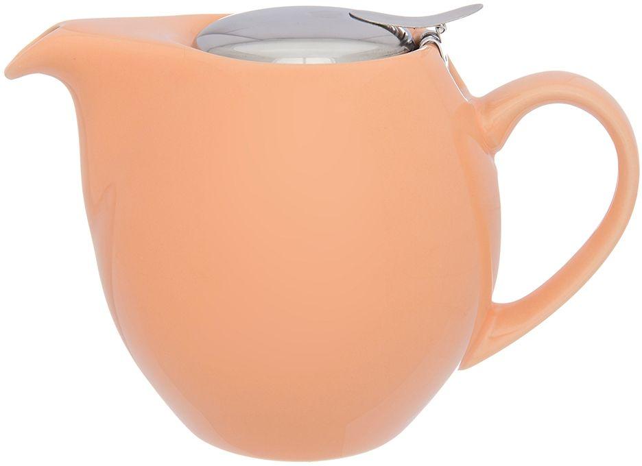 Чайник Elan Gallery Сочный персик, с ситом, 900 мл630029Изящный вместительный чайник объемом 800 мл удобной ручкой и широким носиком.В основании носика сделаны фильтрующие отверстия от попадания чаинок в чашку. Изделие имеет подарочную упаковку.
