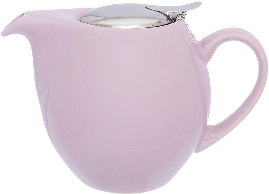 Чайник заварочный Elan Gallery, с ситом, цвет: сиреневый, 900 мл630032Изящный вместительный чайник объемом 900 мл с удобной ручкой и широким носиком. Изделие имеет подарочную упаковку.
