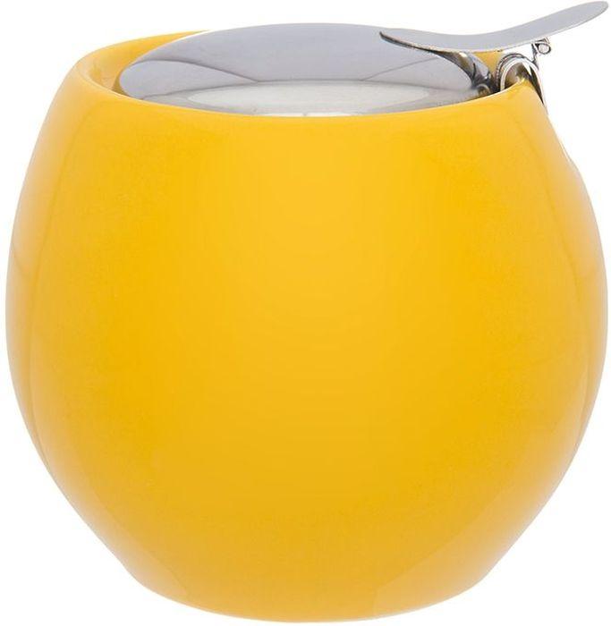 Сахарница Elan Gallery Сочный лимон, с крышкой, 10,5 х 10,5 х 10 см630037Сахарница Elan Gallery с крышкой изготовлена из керамики. Емкость универсальна, подойдет как для сахара, так и для специй или меда. Изделие имеет подарочную упаковку, поэтому станет желанным подарком для ваших близких.