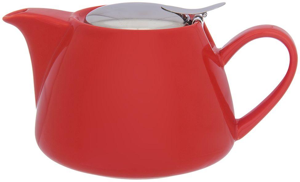Чайник заварочный Elan Gallery, с ситом, цвет: красный, 750 мл630054Изящный вместительный чайник объемом 750 мл с удобной ручкой и широким носиком. Изделие имеет подарочную упаковку.