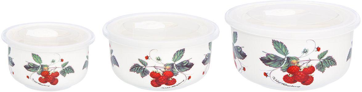 Набор салатников Elan Gallery Ягода-малина, с крышками, 3 предмета730710Набор из трех превосходных салатников очень удобны в использовании. Благодаря традиционной форме удобно сервировать горячее, салаты, фрукты, ягоды. Легко мыть, можно использовать в микроволновой печи, посудомоечной машине. Изделие имеет подарочную упаковку, поэтому станет желанным подарком для ваших близких!