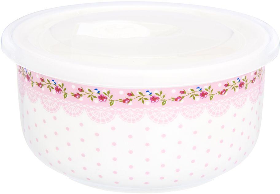 Салатник Elan Gallery Горошек с розами, с крышкой, цвет: розовый, белый, 13,5 х 13,5 х 6,5 см730720Салатник Elan Gallery с крышкой, изготовленный из высококачественной керамики, оригинально украсит ваш стол или кухню. Прекрасно подойдет для подачи различных блюд: закусок и салатов. Также может использоваться в качестве фруктовницы и конфетницы.Такой салатник украсит ваш праздничный или обеденный стол, а оригинальное исполнение понравится любой хозяйке.