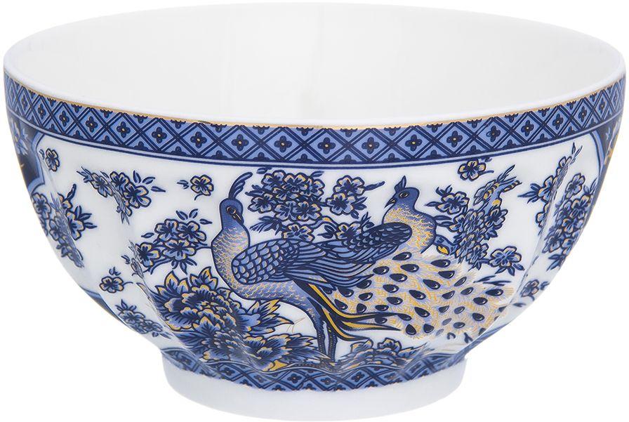 Салатник Elan Gallery Павлин, цвет: синий, 13 х 13 х 7 см