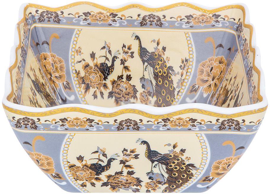 Салатник Elan Gallery Павлин, цвет: бежевый, 16 х 16 х 7,5 см
