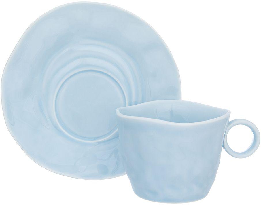 Чайная пара Elan Gallery Морозное небо, 200 мл, 2 предмета760032Чайный пара в красивой подарочной упаковке. Легкие изящные чашки на ножке объемом 200 мл, большие блюдца. Этот чайный сервиз подходит для праздничного стола и является великолепным подарком!