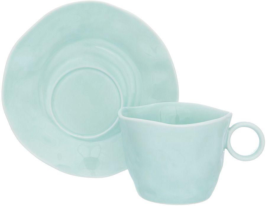 Чайная пара Elan Gallery Мятная, 200 мл, 2 предмета760034Чайный пара в красивой подарочной упаковке. Легкие изящные чашки на ножке объемом 200 мл, большие блюдца. Этот чайный сервиз подходит для праздничного стола и является великолепным подарком!