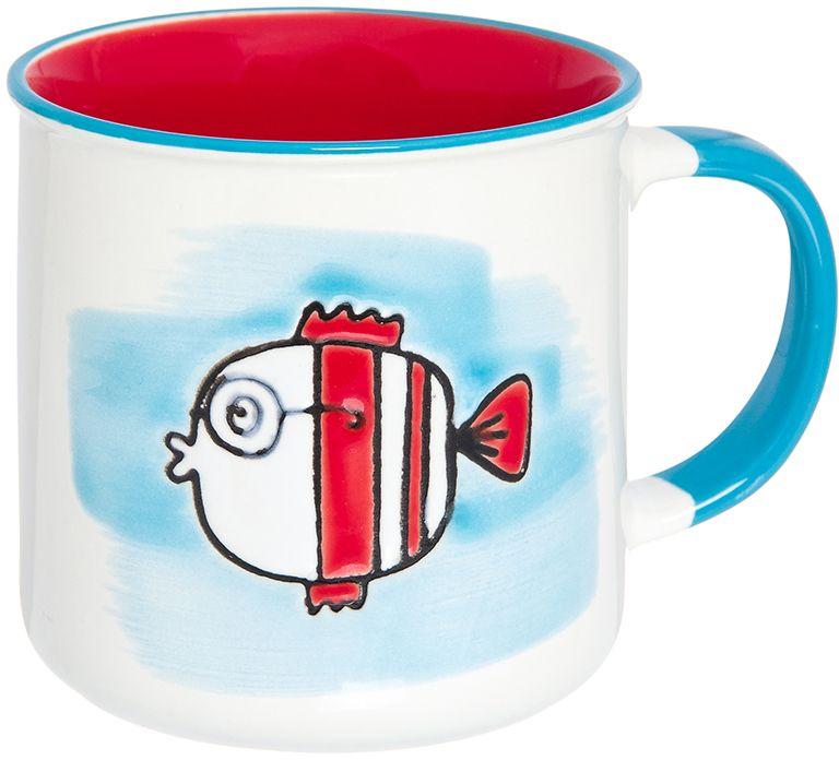 Кружка Elan Gallery Рыбка, цвет: бирюзовый, красный, 250 мл920014Великолепная кружка Рыбка не оставит равнодушным ни одного из ваших гостей и станет прекрасным выбором для подарка. Оригинальный дизайн и оформление подарят вам отличное настроение. Изделие упаковано в подарочную коробку. Объем 250 мл.