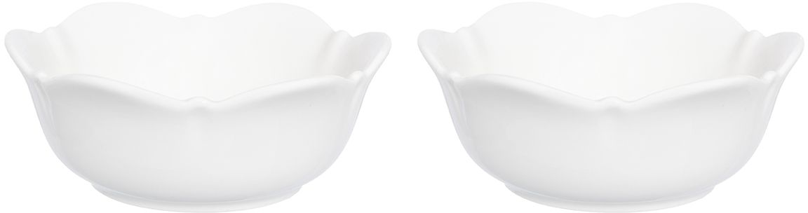 """Красивые и вместительные розетки Elan Gallery из коллекции """"Айсберг"""" подходят не только для сладких лакомств. Их можно использовать для орехов, оливок, каперсов, корнишонов и соусов. Выполнены из фарфора.  У вас намечается праздник, придет много гостей и надо сервировать большой стол - розетки идеальное дополнение для сервировки.  Изделие имеет подарочную упаковку, идеальный подарок для ваших близких!"""