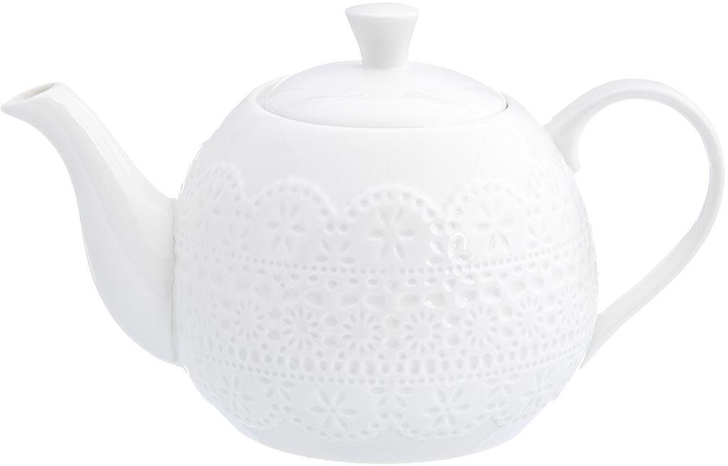 Чайник Elan Gallery Кружево, 1,1 л950074Чайный пара в красивой подарочной упаковке. Этот чайный сервиз подходит для праздничного стола и является великолепным подарком!