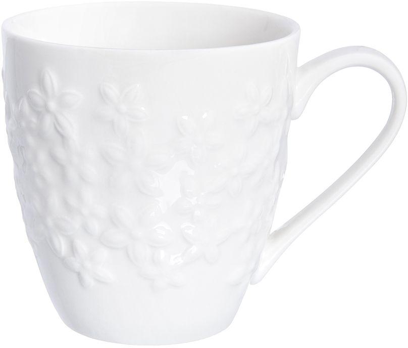 Кружка Elan Gallery Цветочки, 350 мл950080Оригинальная кружка подойдет для чая, кофе и других напитков. Удобна в использовании благодаря устойчивой форме. Изделие имеет подарочную упаковку.
