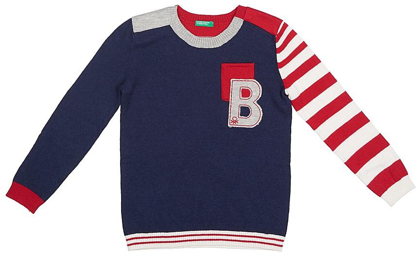 Свитер для мальчиков United Colors of Benetton, цвет: синий. 10F4C1512_13C. Размер 14010F4C1512_13C