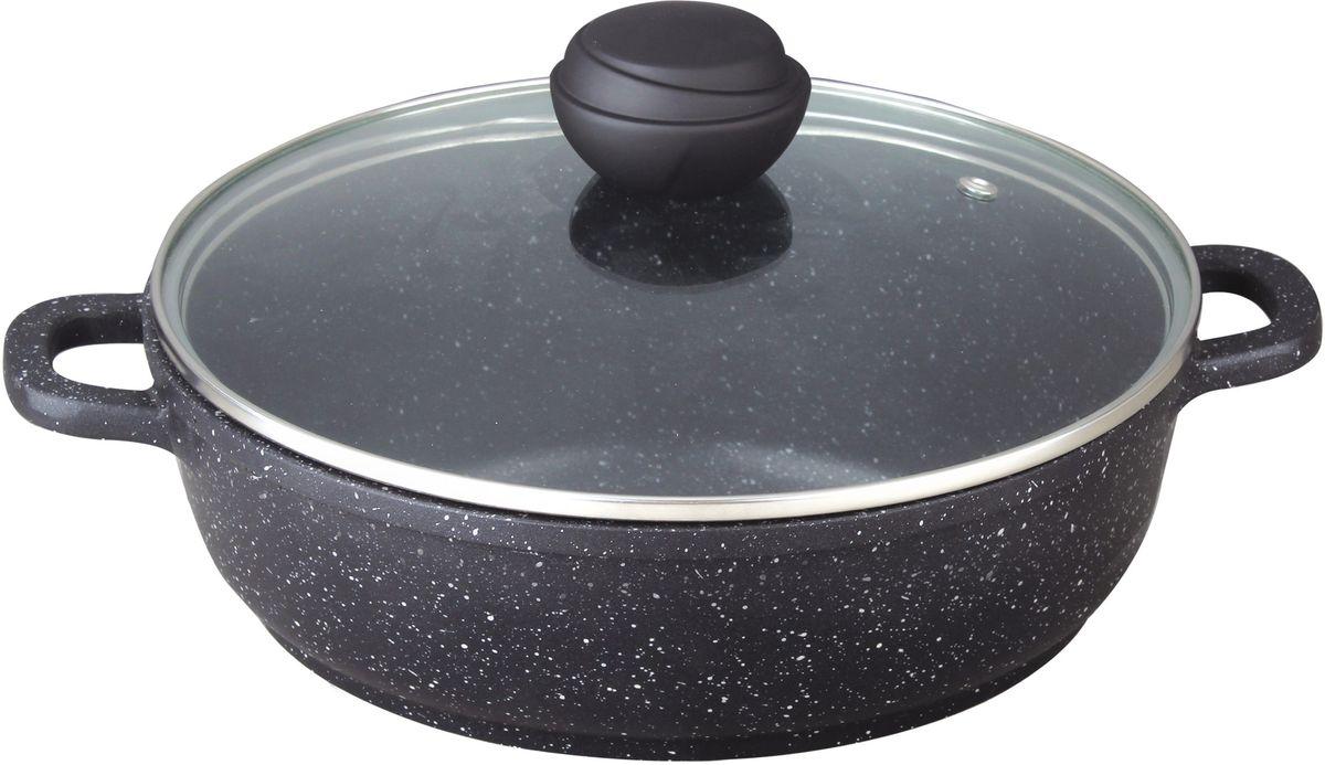 Сотейник Bekker Schwarzmarbel с крышкой, с антипригарным покрытием. Диаметр 32 см. BK-3822BK-3822СотейникBekker Schwarzmarbel со стеклянной крышкой. Внутри антипригарное черное мраморное покрытие, снаружи жаропрочное черное мраморное покрытие. Ручка крышки с покрытием soft touch. Ручки сотейника из литого алюминия. Подходит для индукционных плит. Можно мыть в посудомоечной машине.
