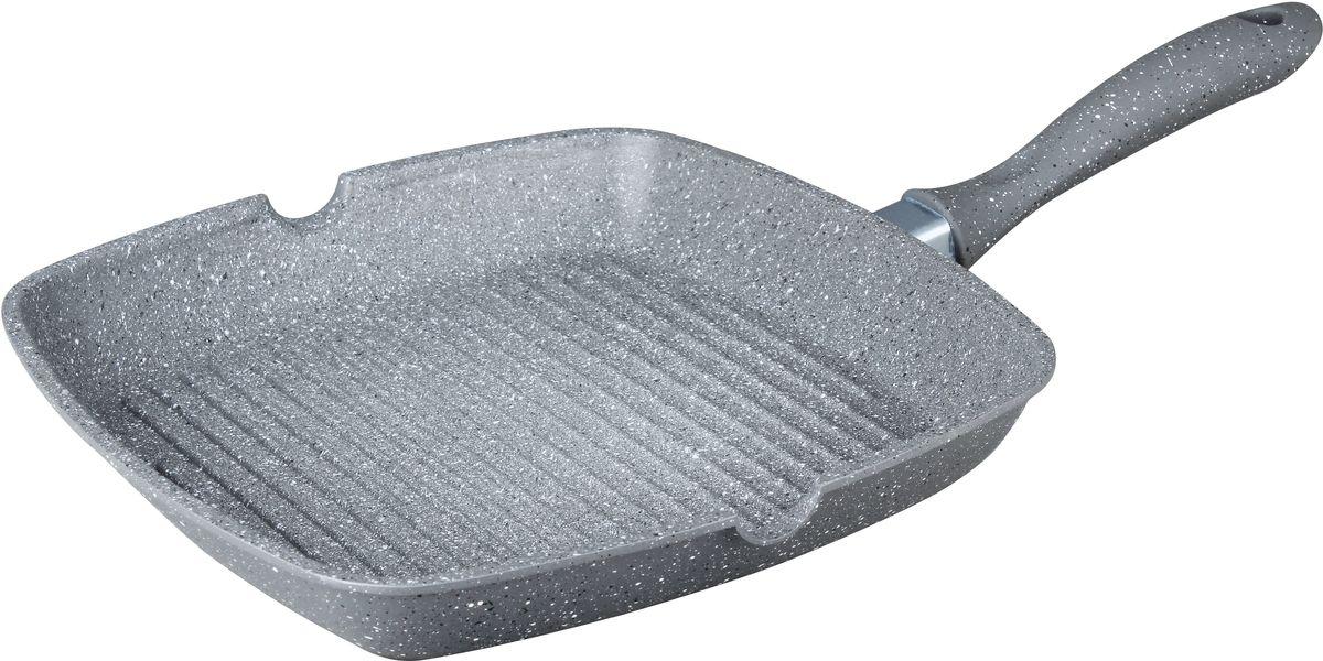Cковорода-гриль Bekker Silver Marble с крышкой, с антипригарным покрытием, 24 х 24 см. BK-7914BK-791424см/1л. Толщина стенки 2,0мм, дна 4,5мм, высота 4см. Внутри антипригарное серое мраморное покрытие, снаружи жаропрочное серое мраморное покрытие. Ручка с покрытием Soft touch. Рифленое дно. Подходит для индукционных плит и чистки в посудомоечной машине. Состав: литой алюминий.