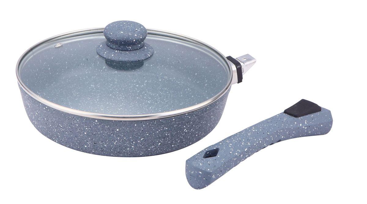Сковорода Bekker с крышкой, с мраморным покрытием. Диаметр 30 см. BK-79271521N-BHСковорода Bekker выполнена из алюминия, который обладает не толькопревосходными теплораспределительными свойствами, но и устойчивостью кдеформации даже при интенсивном использовании.Толщина дна и высота бортов сковороды оптимальны для различных способовприготовления. Крышка из термостойкого стекла позволяет следить запроцессом приготовления без потери тепла.Специальное отверстие для выхода пара позволяет готовить с закрытойкрышкой, предотвращая выкипание. Сковорода Bekker оснащена съемной бакелитовой ручкой. Изделие подходитдля всех типов плит. Также его можно мыть в посудомоечной машине. Диаметр сковороды: 30 см.Высота стенки: 7 см.Толщина стенки: 2,5 мм. Толщина дна: 3,5 мм.