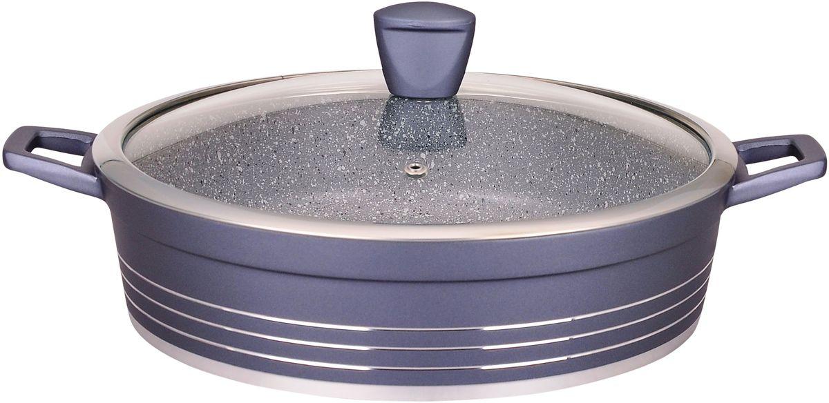Сотейник  Winner  с крышкой, с мраморным покрытием, 4,5 л. WR-1492 - Посуда для приготовления