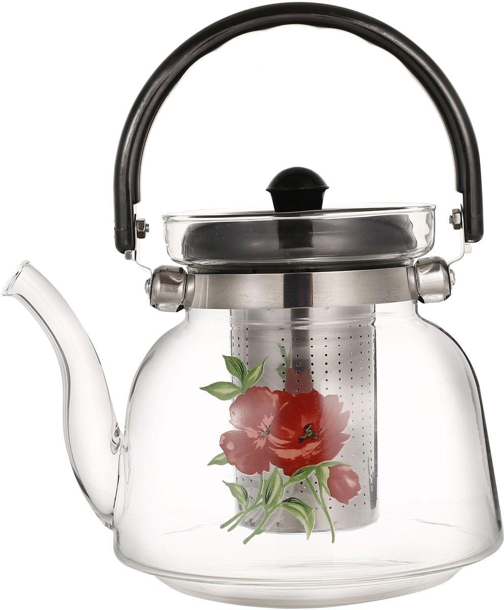 Чайник заварочный Bekker, с фильтром, 1,4 л. BK-7638 чайник заварочный bekker koch с фильтром цвет красный 1 25 л