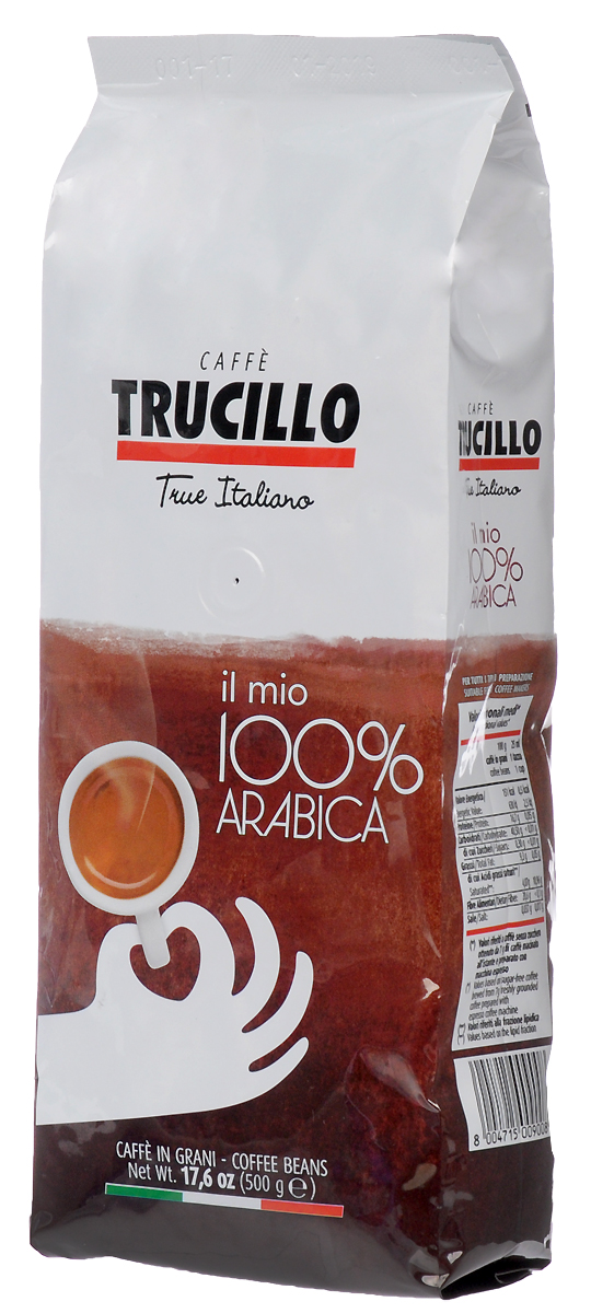 Trucillo Il Mio 100% Arabica кофе в зернах, 500 г толстовка il gufo il gufo il003ebrho67