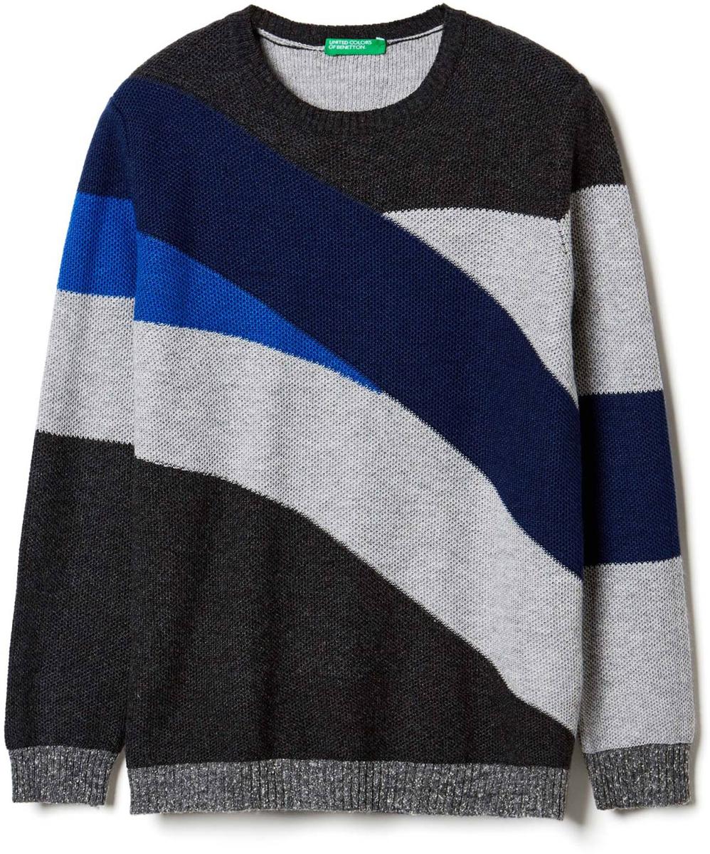 Свитер для мальчиков United Colors of Benetton, цвет: черный. 115EQ1511_508. Размер 130115EQ1511_508