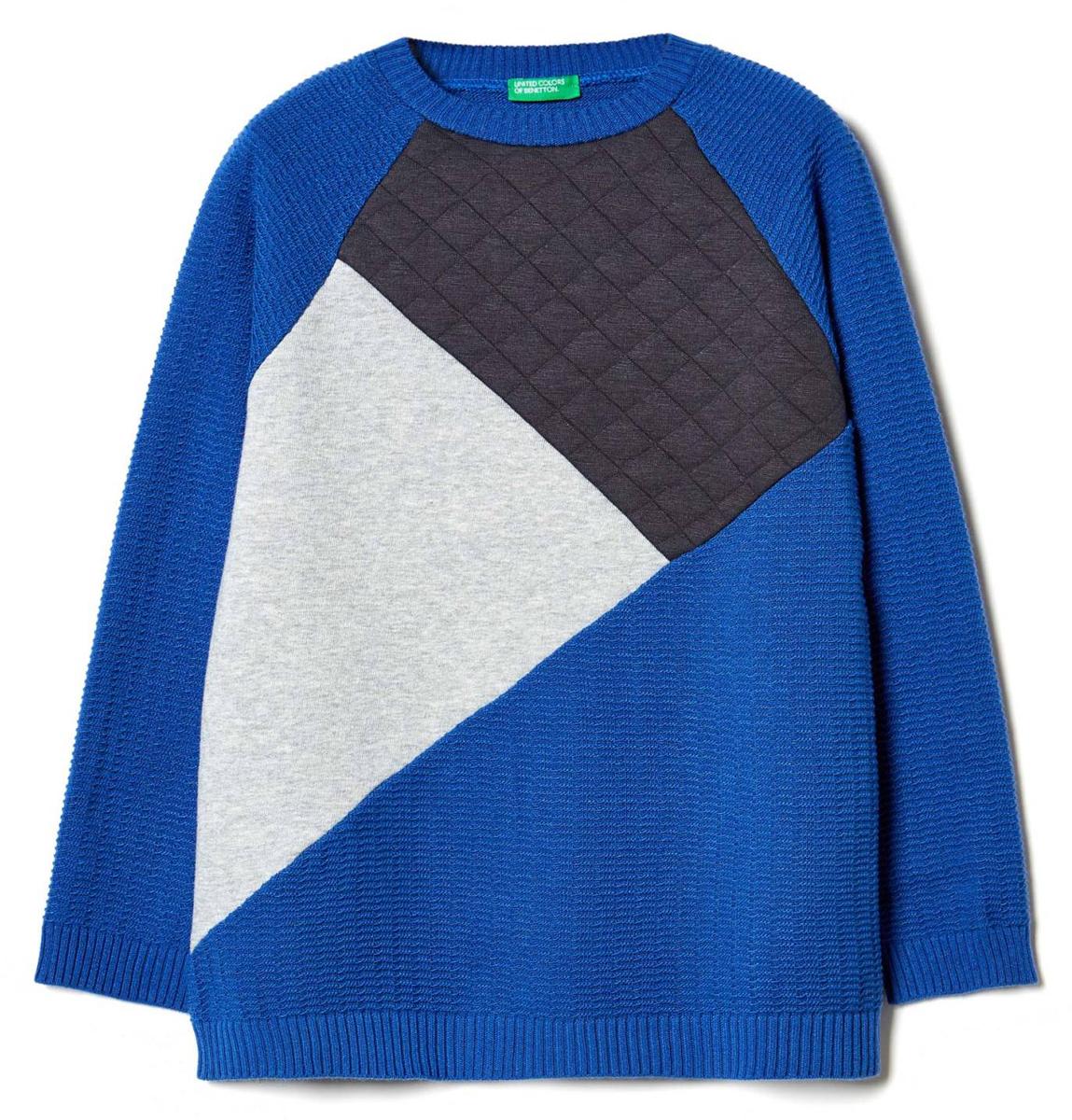 Джемпер для мальчика United Colors of Benetton, цвет: синий. 119QC1530_36U. Размер 160119QC1530_36UДжемпер для мальчика United Colors of Benetton выполнен из акрила и нейлона. Модель с круглым вырезом горловины и длинными рукавами.