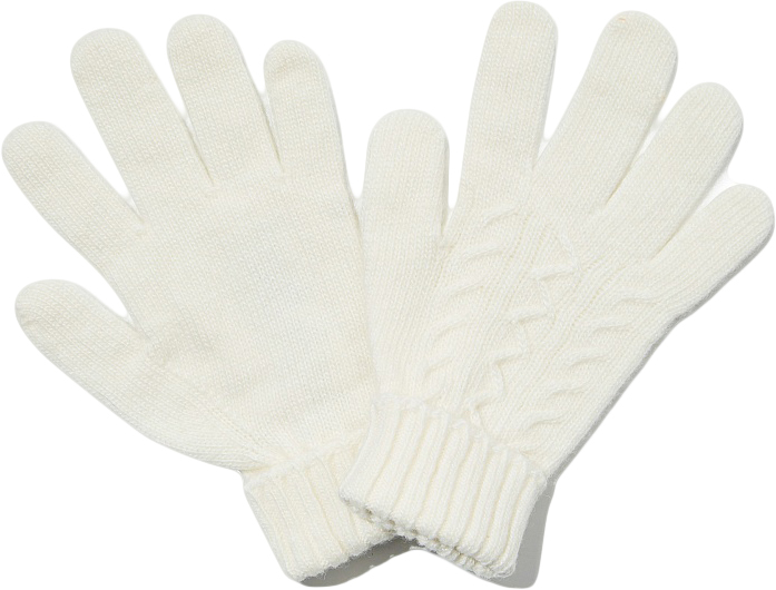 Перчатки для девочки United Colors of Benetton, цвет: белый. 1232C0186_000. Размер 5