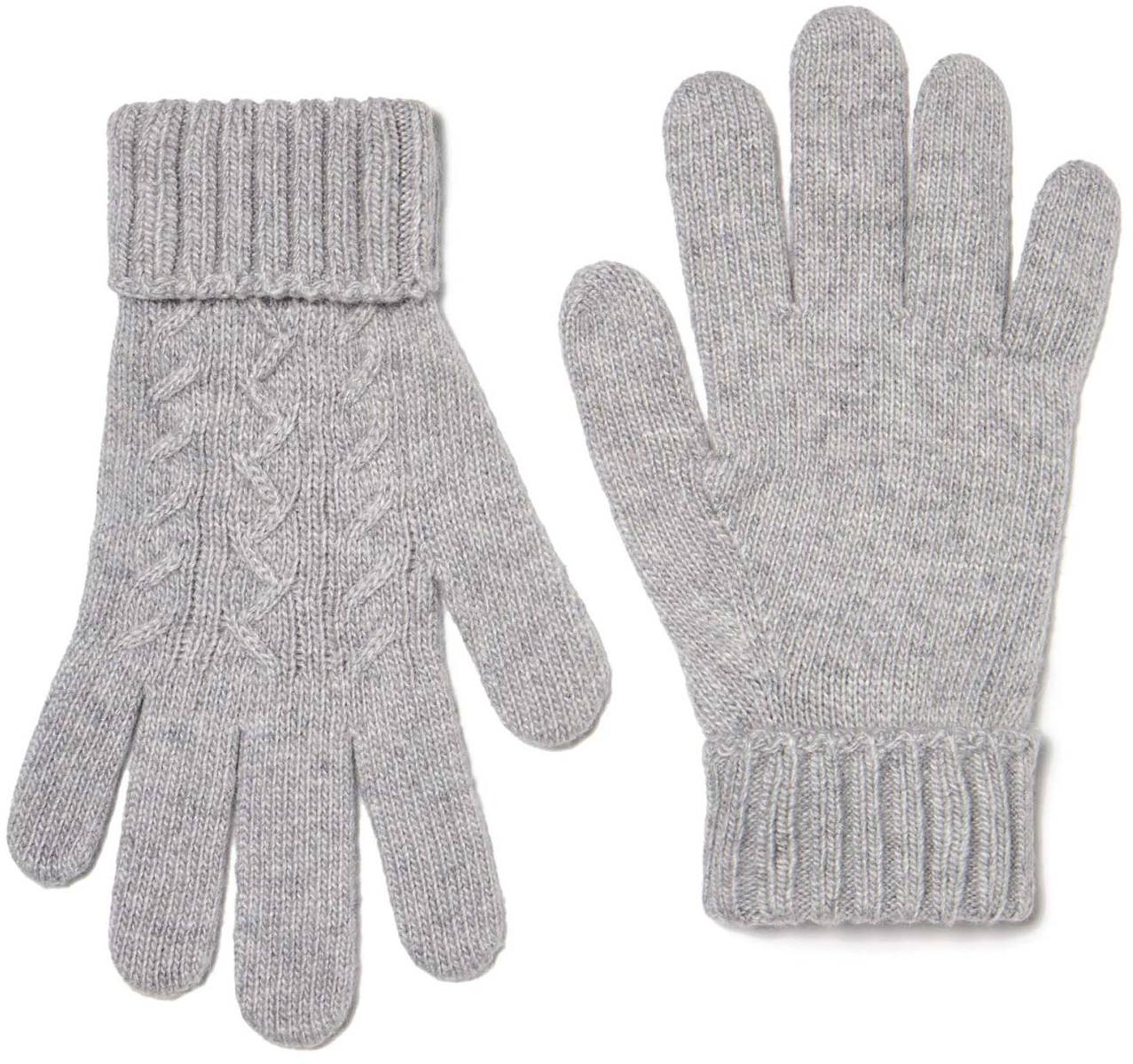Перчатки для девочки United Colors of Benetton, цвет: серый. 1232C0186_501. Размер 5