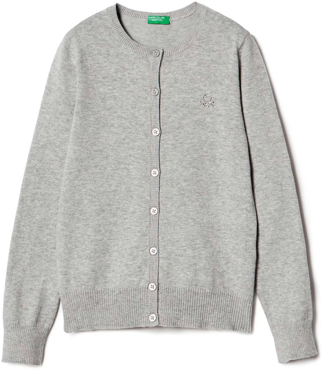 Свитер для девочек United Colors of Benetton, цвет: серый. 12DRC5085_501. Размер 12012DRC5085_501