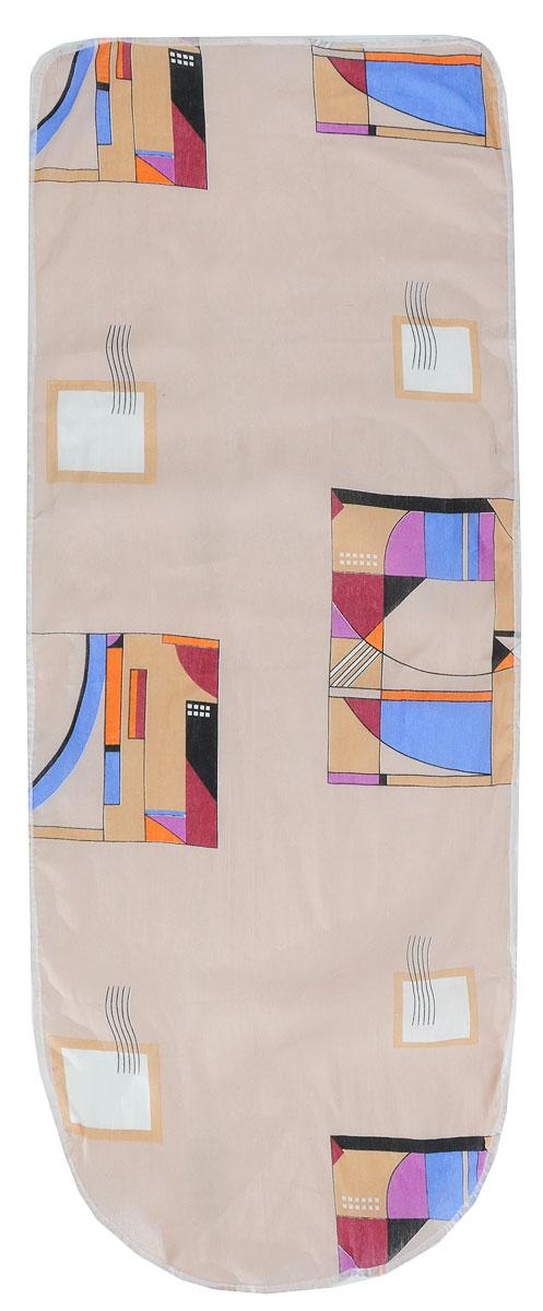 Чехол для гладильной доски Detalle Геометрия, цвет: бежевый, оранжевый, 125 х 47 смЕ1301_геометрия, бежевый, оранжевыйЧехол для гладильной доски Detalle, выполненный из хлопка с подкладкой из мягкого войлокообразного полотна (ПЭФ), предназначен для защиты или замены изношенного покрытия гладильной доски. Чехол снабжен стягивающим шнуром, при помощи которого вы легко отрегулируете оптимальное натяжение чехла и зафиксируете его на рабочей поверхности гладильной доски.Из войлокообразного полотна вы можете вырезать подкладку любого размера, подходящую именно для вашей доски. Этот качественный чехол обеспечит вам легкое глажение. Он предотвратит образование блеска и отпечатков металлической сетки гладильной доски на одежде. Войлокообразное полотно практично и долговечно в использовании. Размер чехла: 125 x 47 см.Максимальный размер доски: 120 х 42 см.Размер войлочного полотна: 130 х 52 см.