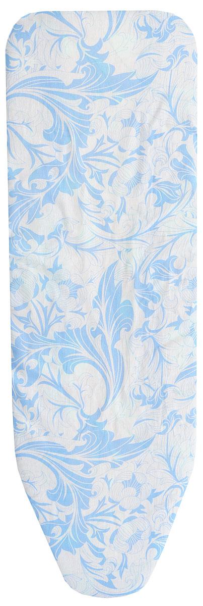 Чехол для гладильной доски Eva, с поролоном, на резинке, цвет: голубой, белый, 129 х 45 смЕ1303_голубой, белыйХлопчатобумажный чехол Eva с поролоновым слоем продлит срок службы вашей гладильной доски. Чехол снабжен прочной резинкой, при помощи которой вы легко зафиксируете его на рабочей поверхности гладильной доски.Чехол для гладильной доски Eva обеспечит простой и безопасный процесс глажения.Размер чехла: 129 х 45 см. Максимальный размер доски: 120 х 38 см.