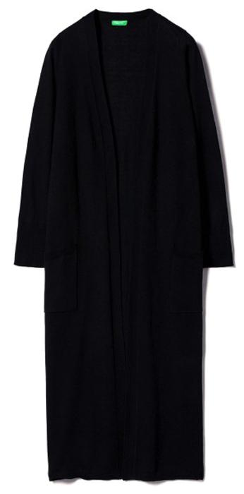 Кардиган женский United Colors of Benetton, цвет: черный. 12GLE6624_100. Размер XS (40/42) женский кардиган 013a56