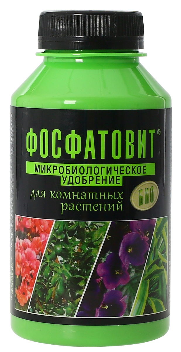Удобрение микробиологическое Фосфатовит для комнатных растений, 220 мл00-00000544Экологически чистые жидкие удобрения на основе живых бактерий