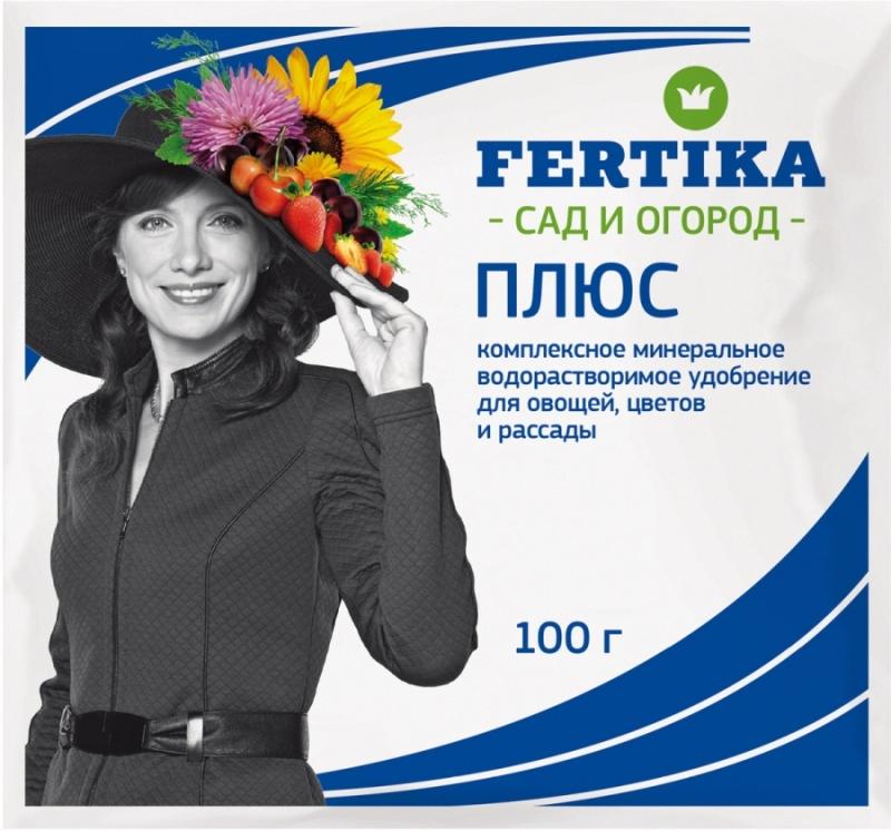 Удобрение Фертика Плюс Весна-Лето, для всех видов культур, 100 гBi-fertika0031• Комплексное минеральное полностью водорастворимое удобрение для различных культур в открытом и защищенном грунте. • Не содержит хлор.• Способствует обильному цветению и плодообразованию при подкормках в период вегетации.• Положительно влияет на качество получаемой продукции (улучшает вкусовые свойства, повышает устойчивость к болезням, не способствует накоплению нитратов).• Микроэлементы в хелатной форме обеспечивают быстрый эффект, особенно на цветах и зеленных культурах.• Оптимальное соотношение азота и калия обеспечивает хорошую сохранность продукции в зимний период.Основной состав: NPK 16:17:30+МИКРО.Нормы и способы внесения:Внесение при поливе: при выращивании комнатных растений поливать их следует 0,1-0,2%-ным раствором (10-20 г/10 л воды): летом – при каждом поливе, зимой – при каждом третьем поливе. Не следует подкармливать только что пересаженные растения и растения, находящиеся в состоянии покоя.При выращивании рассады: 10 г продукта растворяют в 10 литрах воды и этим раствором рассада поливается один раз в неделю.При выращивании овощных культур и цветов: для культур защищенного грунта при каждом поливе использовать 0,1-0,2%-ный раствор (10-20 г/10 л воды);для овощей и цветов открытого грунта также применяют 0,1-0,2%-ный раствор 1 раз в 2 недели;для комнатных цветов летом применяют 0,1-0,2%-ный раствор при каждом поливе, зимой – каждый третий раз.Внекорневая подкормка: обработку проводят 1%-ным раствором (10 г растворяют в 1 л воды) с использованием опрыскивателя, при необходимости повторяют через 7-10 дней.