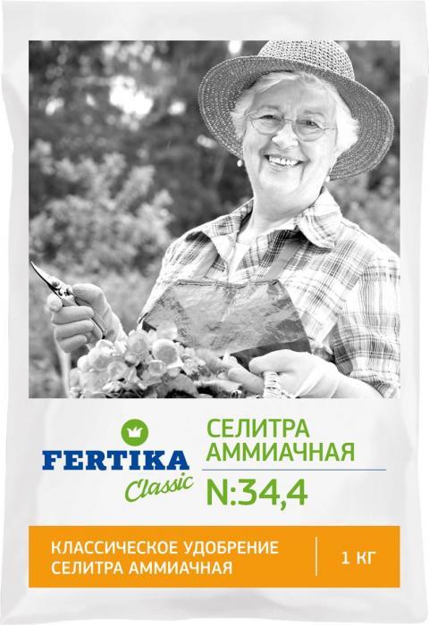 Удобрение Фертика Селитра Аммиачная, 1 кгBi-fertika0056АММИАЧНАЯ СЕЛИТРА (N–34,4%). При проявлении признаков азотного голодания проводят внекорневую подкормку. Необходимость в проведении внекорневой подкормки может возникнуть также сразу после образования завязей плодов и ягод и их последующем осыпании. Универсальное азотное удобрение. Хорошо растворяется в воде, может быть использовано в качестве основного удобрения и в виде подкормок любых плодовых, ягодных и овощных культур.