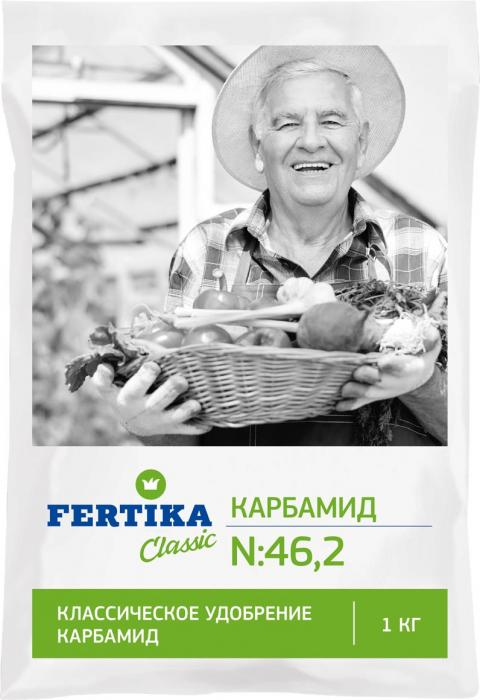 Удобрение Фертика Карбамид, 1 кгBi-fertika0057КАРБАМИД (N–46,2%). Высококонцентрированное азотное удобрение. Эффективное средство повышения урожайности различных видов сельскохозяйственных культур. Может быть использовано в виде подкормок любых плодовых, ягодных и овощных культур. Хорошо растворяется в воде. Вне корневую подкормку проводят при проявлении признаков азотного голодания растений.