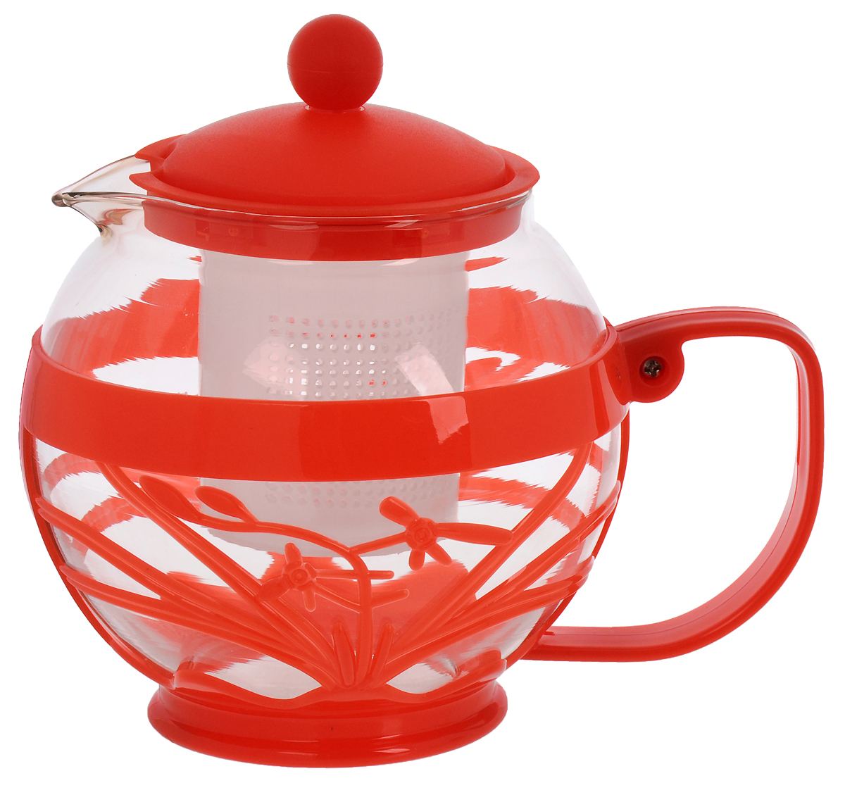 Чайник заварочный Wellberg Aqual, с фильтром, цвет: прозрачный, красный, 800 мл361 WB_красныйЧайник заварочный Wellberg Aqual изготовлен из высококачественного стекла и пластика. Изделие оснащено сетчатым фильтром, который задерживает чаинки и предотвращает их попадание в чашку, а прозрачные стенки дадут возможность наблюдать за насыщением напитка.Чай в таком чайнике дольше остается горячим, а полезные и ароматические вещества полностью сохраняются в напитке. Не рекомендуется мыть в посудомоечной машине.Диаметр чайника (по верхнему краю): 8 см.Высота чайника (с учетом крышки): 15 см.Размер фильтра: 6 х 6 х 6,5 см.